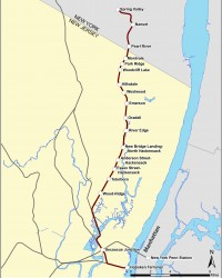 Pascack Line Map