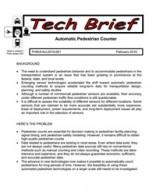 Pedestrian Counter Evaluation Study