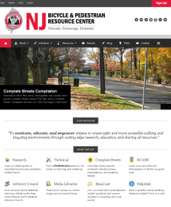 NJ Bicycle & Pedestrian Resource Center Website