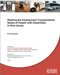 Meeting the Employment Transportation Needs of People with Disabilities in New Jersey