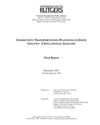 Essex County Community Transportation Planning: A Situational Analysis