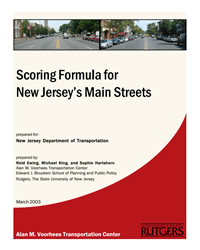 Scoring Formula For New Jersey's Main Streets