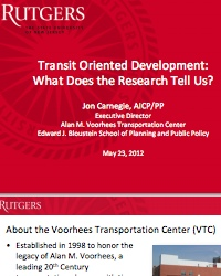 Transit Oriented Development: What Does the Research Tell Us?